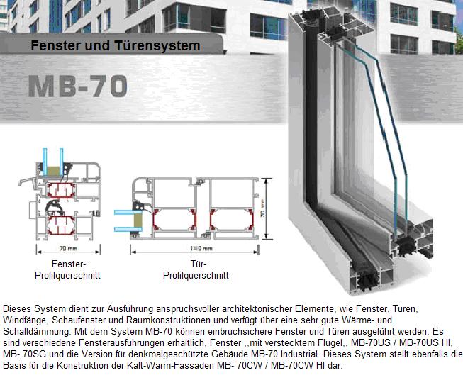 MB-70 Aluminiumfenster