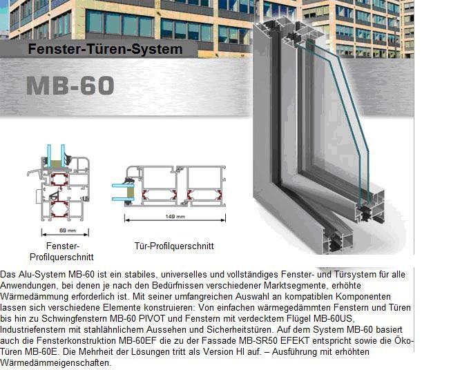 MB-60 Aluminiumfenster